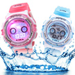 Kids School Waterproof Sports Watch with 7 Colorful Light School Children Gift Digital Rubber