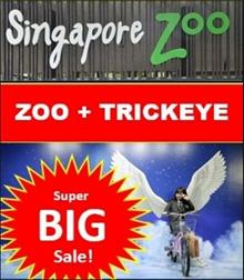 Singapore Zoo + Trick Eye (Trickeye) Package Deal/ Etickets