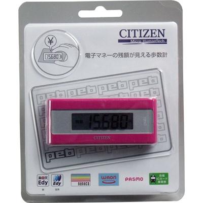 シチズン電子マネービューアー付歩数計ピンクTWTC501−PK