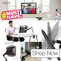 🌠 NEW!! LAPTOP ARM / MONITOR (LCD) ARM TV arm / Desk Organiser / Desk Lamp ★more choices insi.