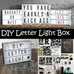 ★★ EXPRESS DELIVERY★★Light Box with Letter Pack Set★★ Color/ Black Font/ Customize message/Creative Novelty Gift present/DIY slogan quotes words / Typo / LED Light Box with Font* Color Letters