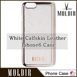 【送料無料】【国内発送】White Calfskin Leather Iphone6 Case 【MOLDIR】【日本公式販売】 ◆ジェジュン JYJ デザイン バック スマホ スマートフォン ケース
