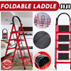 ★Foldable Laddle★ 【 Compact and Light Ladder 】 Foldable Large Board Ladder 3/4/5 Step Ladder Step