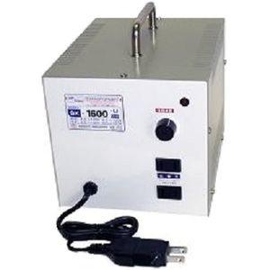 【クリックで詳細表示】日章工業 アップ/ダウントランス(AC120⇔AC100V、1600W) SK-1600U