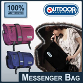 [OUTDOOR PRODUCTS] Cord Angel/PU Messenger Bag. Fuchsia/Purple color available! FREE Shipping! Guaranteed 100% Authentic Local Seller