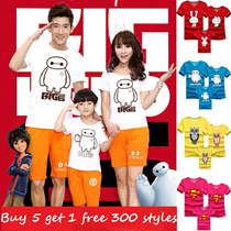 Cartoon Family T-shirts /Couple clothes/children clothes//Parent-child/Family Wear/Women T-shirts