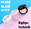 Eglips pore pact white oil control blur no sebum glow powder foundation cover face whitening puff kr