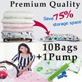 [Premium Quality Vacuum Bags][10bags+1pump][3bags+1pump][Vacuum storage bag][Compressed seal bag][Hand roll seal bag][Travel organizer bag][Perfect for home storage and travel organizer]