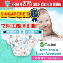 Pee-Ka-Poo Diapers 80 Piece Pack Fast Absorption Super Thin Soft Super Dry No Leakage Wetness Lock