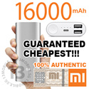 [100% AUTHENTIC] Xiaomi Mi Power Bank 16000mAh 10400mAh 10000mAh 5000mAh PowerBank Portable Battery Charger iPhone Samsung Xiaomi Silicone Case