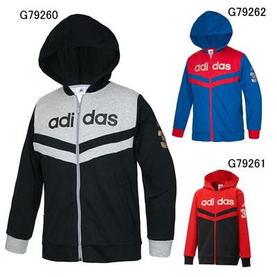 アディダス (adidas) ジュニア YB TCOS BB スウェットフードジャケット AJ903 [分類:スウエットシャツ・トレーナー (ジュニア)]の画像