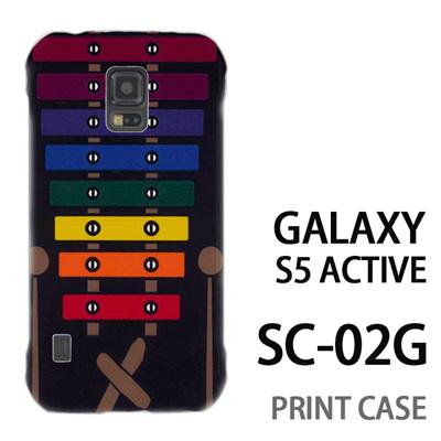 GALAXY S5 Active SC-02G 用『No1 X_木琴 黒背景』特殊印刷ケース【 galaxy s5 active SC-02G sc02g SC02G galaxys5 ギャラクシー ギャラクシーs5 アクティブ docomo ケース プリント カバー スマホケース スマホカバー】の画像