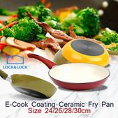 LocknLock E-Cook Coating Ceramic Deco Fry Pan Wajan Penggorengan Anti Lengket Warna Variatif