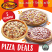 RITE PIZZA AT $9.90 ONLY! Choose from 5 Flavours! Regular / Extra Large Pizza