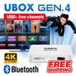 [FREE SHIPPING] NEW UNBLOCK Tech TV BOX UBOX Bluetooth Version: 1000+ Free Channels