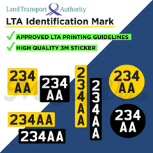 ★LTA Identification Mark Sticker★ Escooter Number Plate ★ LTA Specification✅ ★ 3M QUALITY✅