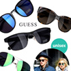 ★NEW★[GUESS] Celebrity Sunglasses 100% Authentic High Quality Unisex UV400 Eyeglasses Free Shipping For Qxpress Acetate/Steel frame Eyewear