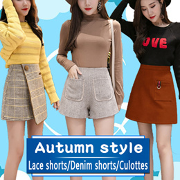 【new fashion world】2018 New Ladies Skirts Shorts Skorts Autumn and winter shorts Collection Pants