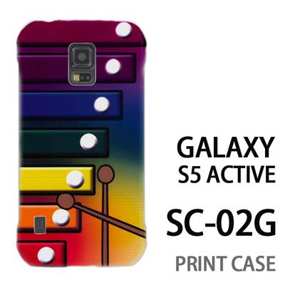 GALAXY S5 Active SC-02G 用『No1 X_木琴 虹色背景』特殊印刷ケース【 galaxy s5 active SC-02G sc02g SC02G galaxys5 ギャラクシー ギャラクシーs5 アクティブ docomo ケース プリント カバー スマホケース スマホカバー】の画像