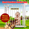 Free Gift! Fit 65cm-200+cm. Steel premium safety gate for baby Pet/Auto close metal gate