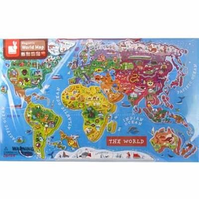 JANOD パズルワールドマップ J05504 【ベビー おもちゃ 知育玩具 世界地図パズル】【n-baby】の画像