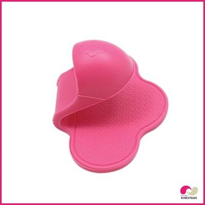 【日用品】 flos siliconeシリコン皿つまみ(鍋つかみ)dish handle Pink HKS-E005の画像