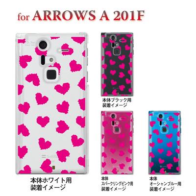 【ARROWS ケース】【201F】【Soft Bank】【カバー】【スマホケース】【クリアケース】【ハート】 22-201f-ca0019の画像