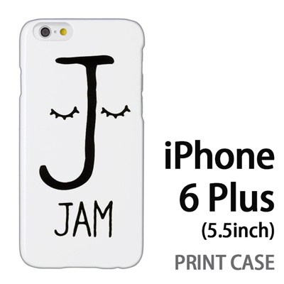 iPhone6 Plus (5.5インチ) 用『0623 「J」』特殊印刷ケース【 iphone6 plus iphone アイフォン アイフォン6 プラス au docomo softbank Apple ケース プリント カバー スマホケース スマホカバー 】の画像