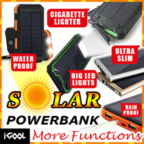 CHOOSE FREE GIFT ☀ Charge by SOLAR Energy or Electricity ☀ 26000mAh ☀ 30000mAh ☀ 36000mAh ☀ 38000mAh Powerbank ☀ Waterproof External Battery Solar Charger Iphone Samsung Xiaomi Ipad iPhone