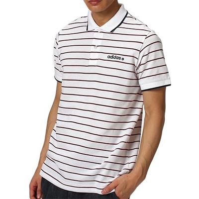 アディダス(adidas) メンズ SC ピンボーダーポロシャツ ホワイト KBV72 A97607 【半袖シャツ コットンシャツ カジュアルウェア】の画像