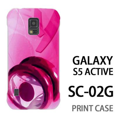 GALAXY S5 Active SC-02G 用『No1 Y_ヨーヨー ピンク』特殊印刷ケース【 galaxy s5 active SC-02G sc02g SC02G galaxys5 ギャラクシー ギャラクシーs5 アクティブ docomo ケース プリント カバー スマホケース スマホカバー】の画像