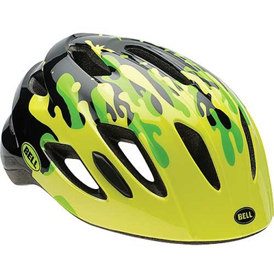 ベル(BELL) ヘルメット ZIPPER / ジッパー KIDS&YOUTH ポップグリーンスプラット UC/47-54cm 【自転車 サイクル キッズ 安全 子供】の画像