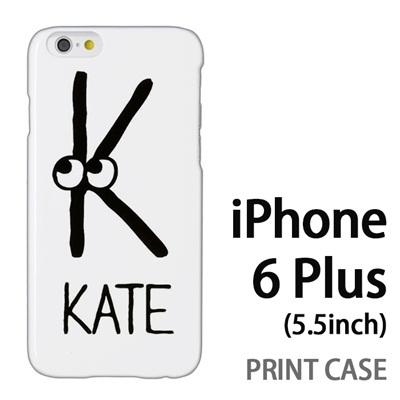 iPhone6 Plus (5.5インチ) 用『0623 「K」』特殊印刷ケース【 iphone6 plus iphone アイフォン アイフォン6 プラス au docomo softbank Apple ケース プリント カバー スマホケース スマホカバー 】の画像