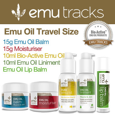 FREE SHIPPING 1ST 100 QTY!! Emu Oil Travel Sizes!! MADE IN AUSTRALIA! Emu Oil/Moisturiser/Lip Balm/Liniment/Balm Deals for only S$12 instead of S$0