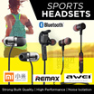 FREE QXPRESS MARCH!*Korea bestselling earphones!Bluetooth Wireless sports earphone Remax AWEI Xiaomi