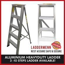 [LADDERMENN] Aluminium Heavyduty Ladder (3 -10 Steps Ladder Available!)