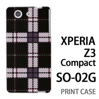 XPERIA Z3 Compact SO-02G 用『0908 ラインチェック 黒白』特殊印刷ケース【 xperia z3 compact so-02g so02g SO02G xperiaz3 エクスペリア エクスペリアz3 コンパクト docomo ケース プリント カバー スマホケース スマホカバー】の画像