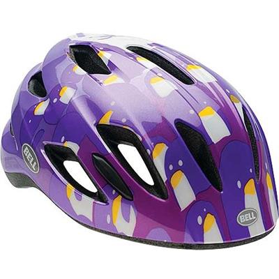 ベル(BELL) ヘルメット ZIPPER / ジッパー KIDS&YOUTH パープルペンギン UC/47-54cm 【自転車 サイクル キッズ 安全 子供】の画像