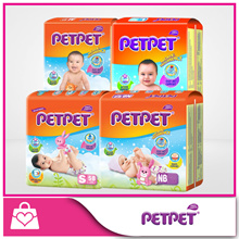 [Use Coupon for Discount] PETPET Diapers[Carton Sales Bundle of 4] [Happy Comfort for baby]