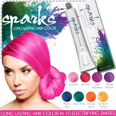 Buy SPARKS Bright Color Hair Dye Direct from USA Deals for #2: g 400 w st g