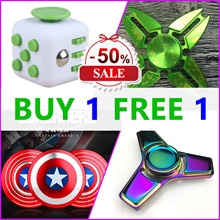 BUY 1 FREE 1 ★2017 Best Toys★ Fidget Cube And Fidget Spinner Best Gift For Child Friend