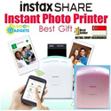 ♥Singapore Local Warranty♥ Pearl Pink! Instax SHARE Photo Printer SP-1 Mobile Portable Instant Polaroid Better than Pogo LG Kitty  Canon Selphy Selfie printers care tempered cable