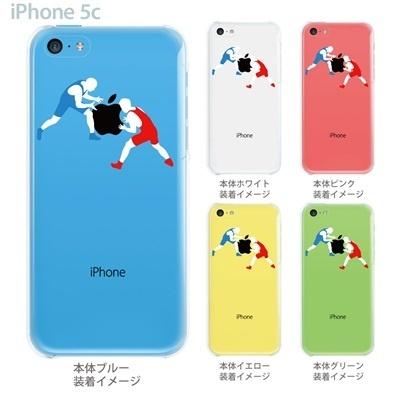 【iPhone5c】【iPhone5c ケース】【iPhone5c カバー】【ケース】【カバー】【スマホケース】【クリアケース】【クリアーアーツ】【レスリング】 06-ip5cp-ca0015の画像