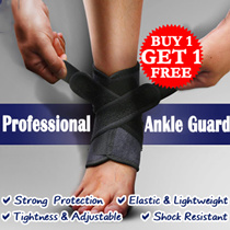 [BUY 1 GET 1 FREE] Professional Sports Ankle Guard with Cross-wound Flexible Velcro Tape / Tightness Adjustable / Strong Protection / Sport Crash Proof / Prevent Re-injury / All Day Ankle Support