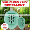 Mini USB Mosquito Repellent Killer Portable Eco-friendly USB Powered Electric |FREE 2pcs Refill Mats| Mosquito Net|Trap|Lamp|Coil