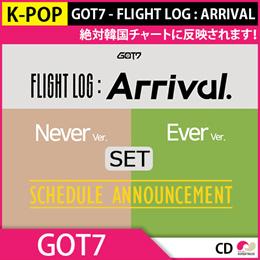 送料無料【2次予約】初回ポスター GOT7 - FLIGHT LOG : ARRIVAL バージョン SET!ミニ6集【韓国音盤】【K-POP】【3.4発売】【3月中旬発送】