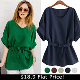♥ 2015 NEW SUMER COLLECTION// BLOUSE //Premium Quality Korean Style Trendy blouse//2type of 4color casual style blouse