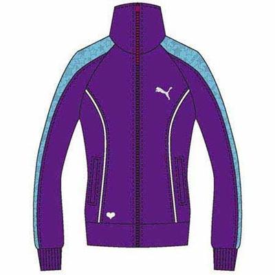 プーマ(PUMA) レディース トレーニングジャケット ブライトバイオレット 902468 06 【トレーニングウェア ジャージ プージャー】の画像