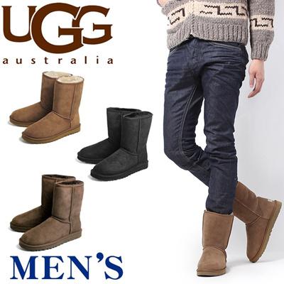アグ オーストラリア UGG AUSTRALIA クラシック ショート ムートンブーツ CLASSIC メンズ ブーツの画像