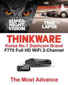 [AUTHORISED SG DEALER]★THINKWARE-F770 KOREA NO.1 DASHCAM 16GB 2CH FULL HD CAR CAMERA BLACKBOX DVR